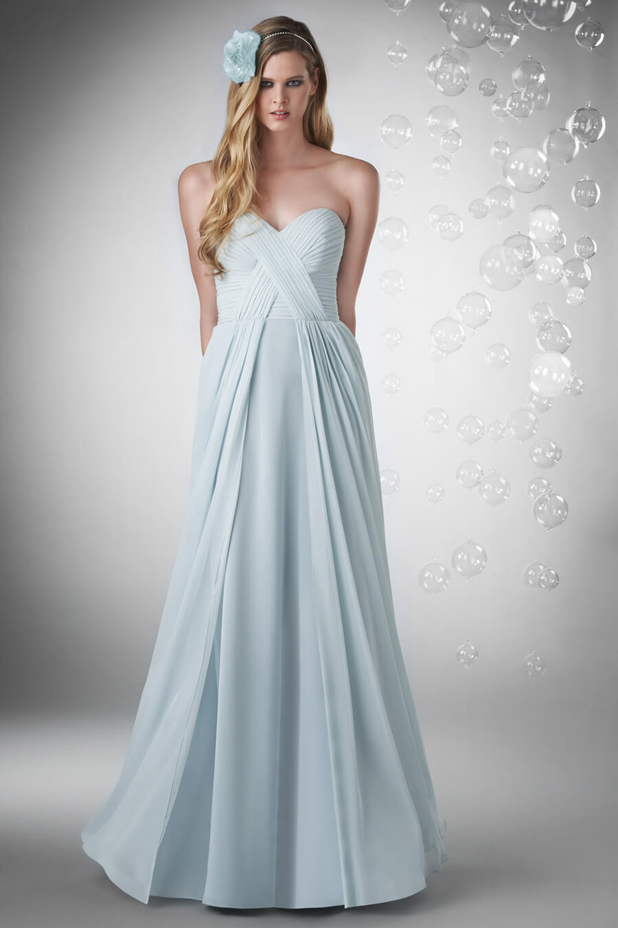 Style 720 bridesmaid dresses evening gowns flower girl sweetheart shirred criss cross bust with chiffon overlay skirt ombrellifo Images